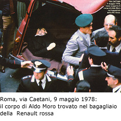 Il corpo di Aldo Moro nella Renault Rossa