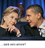 Hilary e Obama